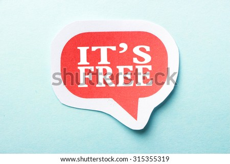 It is Free speech bubble is isolated on the blue background. - stock photo