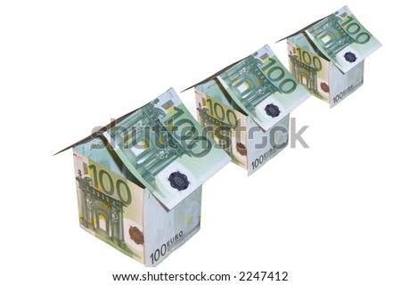 It is glad monetary small houses - stock photo