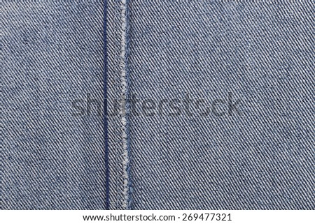 It is Inner seam of Jeans for pattern and background. - stock photo