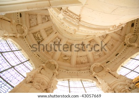 It is interior of Royal Castle of Chambord in the Loire Valley in France - stock photo