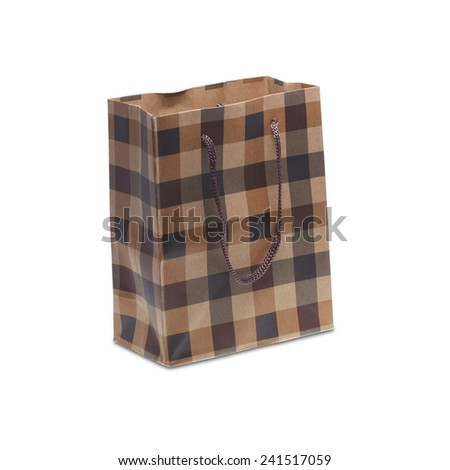 It is Paper bag isolated on white - stock photo