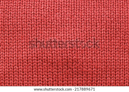 It is Red knitting wool texture for pattern and background. - stock photo