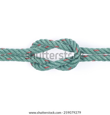 It is Rope knot isolated on white. - stock photo