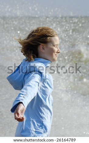 It is spring. The Baltic Sea is not covered by ice anymore. - stock photo
