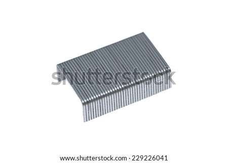 It is Staples isolated on white. - stock photo