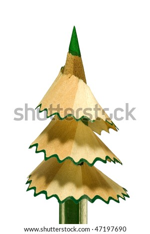 It is symbolical the staff (new year, a fur-tree from a pencil). - stock photo