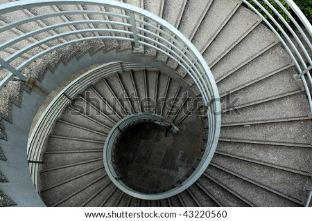 It is the beautiful spiraling stairs - stock photo