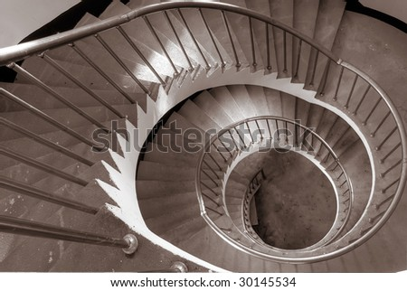 It is the beautiful spiraling stairs with colors.