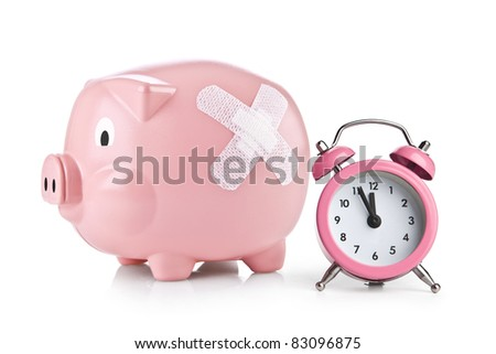 It is time for the savings - stock photo