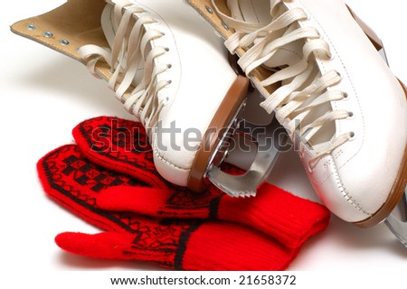 It is time on a skating rink - stock photo