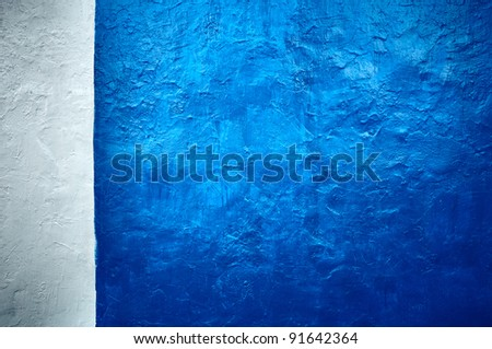 It is white - a dark blue background in style grunge. - stock photo
