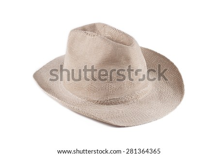 It is Woven hat isolated on white. - stock photo