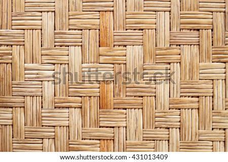 It is Woven rattan mat for pattern and background. - stock photo