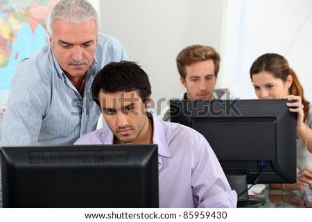 IT lesson - stock photo