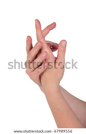 it photographs of two hands being given massage and it cremates - stock photo
