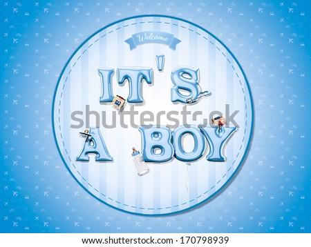It's a boy - stock photo