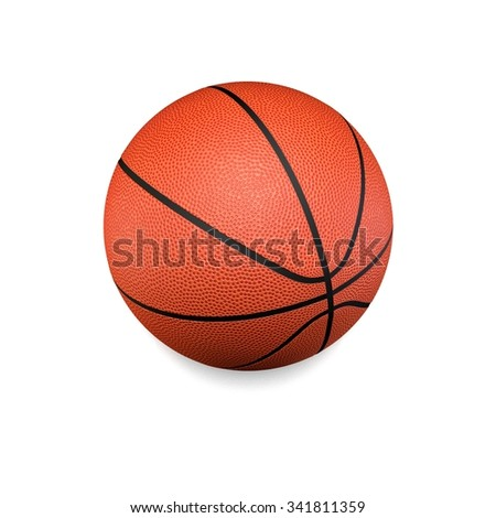 It's a 3D render of Basketball Ball on white background with high resolution. - stock photo
