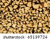 It's a photo of a woodpile in Dolomiti, Italy, Alps - stock photo