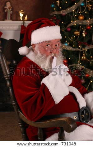 It's A Secret Santa - stock photo