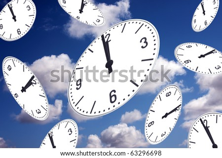 It's about time - One minute before twelf - Safe the planet - Concept - stock photo