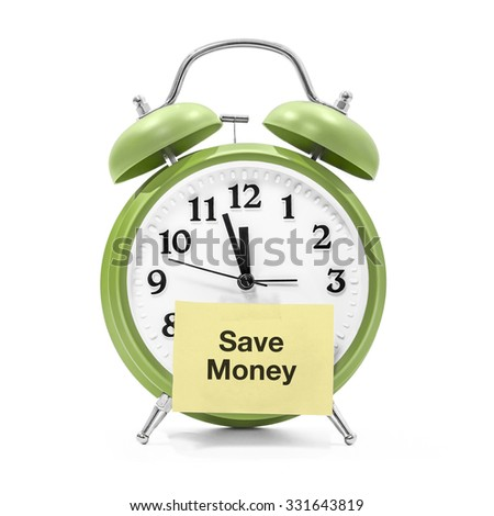 It's about time to save money - stock photo