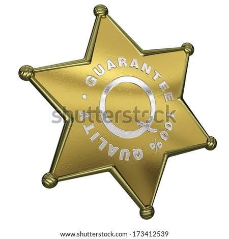 It's 3d render of  Sheriff Star Guarantee 100% quality. - stock photo