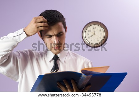 It�s difficult task ! - stock photo