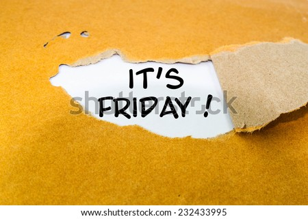 It's Friday concept on brown envelope  - stock photo