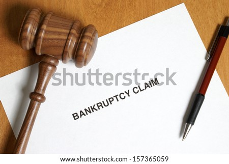 It's never in anyones agenda to claim bankruptcy however sometimes its the only way out. - stock photo