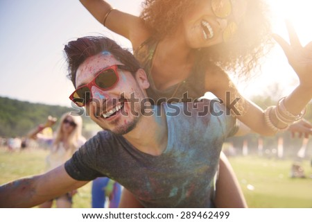It's the best party ever! - stock photo