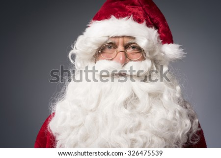 It's the time to welcome a Santa Claus - stock photo