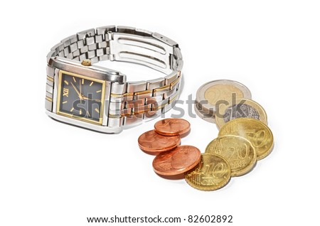 It's time to make money - stock photo