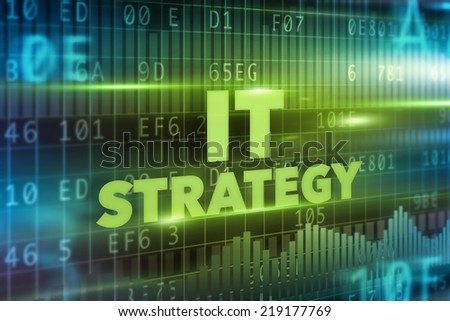 IT strategy concept - stock photo