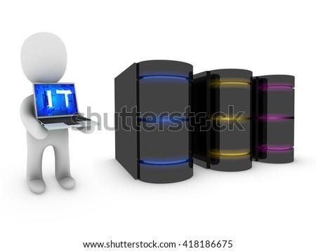 IT technology - 3D illustration  - stock photo