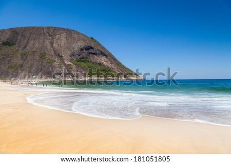 Itacoatiara beach,Niteroi, Rio de Janeiro, Brazil  - stock photo