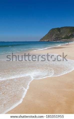 Itacoatiara beach,Niteroi , Rio de Janeiro, Brazil  - stock photo