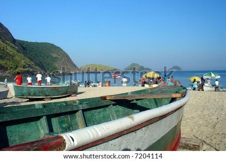 Itaipu beach in Niteroi, Rio de Janeiro, Brazil - stock photo