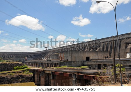 Itaipu dam, Brazil - stock photo