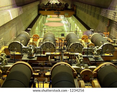 ITAIPU - the largest power plant. Paraguay - stock photo