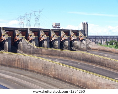 ITAIPU - the largest power plant, Paraguay (3) - stock photo
