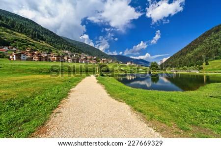 Italian Alps in Vermiglio, Val di Sole, Trentino, Italy - stock photo