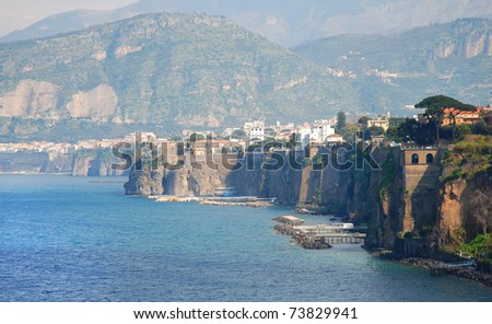 Italian beautiful town Sorrento - stock photo