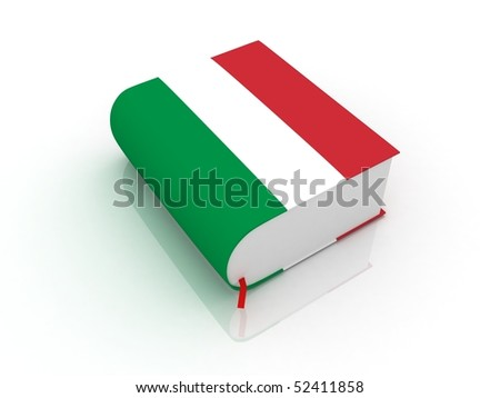 italian book - stock photo