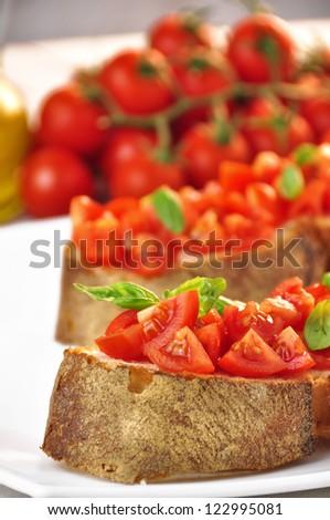 italian bruschetta - stock photo