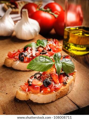 Italian bruschetta - Italian Appetizer - stock photo