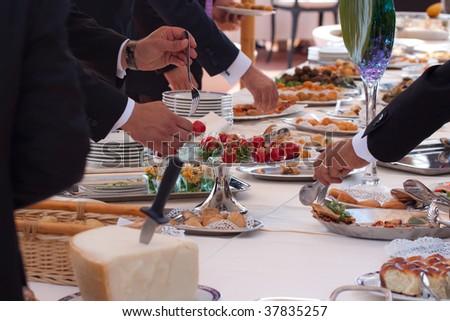 Italian buffet - stock photo