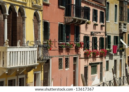 Italian Buildings - stock photo