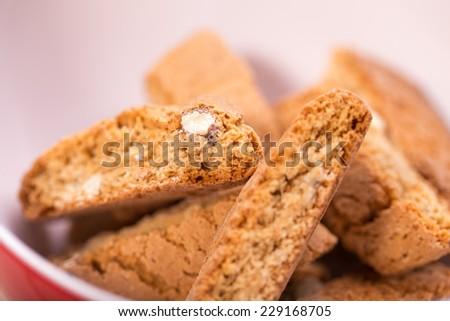italian cantuccini cookies - stock photo