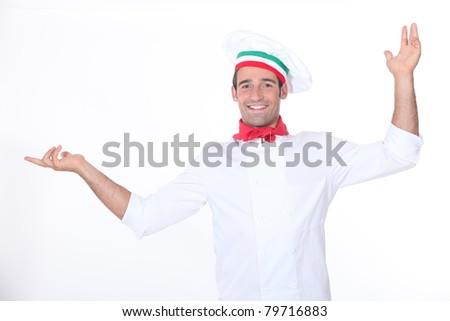 Italian chef - stock photo