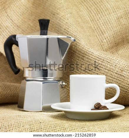 Italian Coffee Machine - stock photo